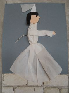 Bílá paní na hradbách - z papírového kapesníku Snow White, Disney Characters, Fictional Characters, Disney Princess, Halloween, Crafts, Google, Carnavals, Manualidades