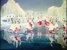 """Sonja Henie skating in her first movie made in color, """"It's a Pleasure"""" 1944"""