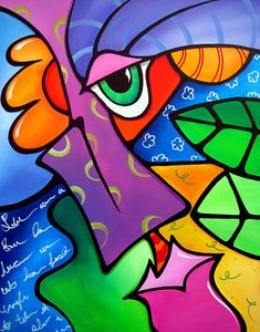 Pop Art Painting - Tickle - Original Pop Art by Tom Fedro - Fidostudio