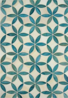 Green tiles with flower motif # tiles - Fliesen Tiles - Geometric Decor White Bathroom Tiles, Kitchen Tiles, Kitchen Flooring, Kitchen Design, Cement Bathroom, Bathroom Modern, Tuile Turquoise, Turquoise Tile, Tile Patterns