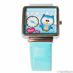 FREE WORLDWIDE SHIPPING / Blue Owl in Love  hand made by NaniWatch, $52.00