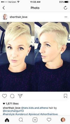 Grown Out Pixie, Pixie Cut, Blonde Pixie, White Blonde, Grow Out, Short Hair Styles, Instagram Posts, Silver, Fashion