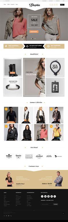 Shophia - Free eCommerce Template #website #web #theme #template #shop #ecommerce
