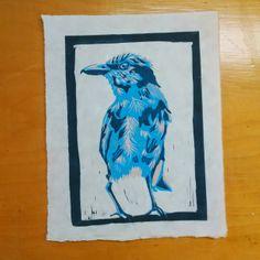 3-color Linoleum Reduction Print