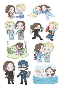 Steve and Bucky babies by SilasSamle on DeviantArt
