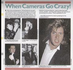 """Duran Duran : 1984 smash hits """"when cameras go crazy - simon le bon 1/2 Bible Doodling, Simon Le Bon, New Romantics, Going Crazy, Cameras, Wolf, Interview, Teen, Posters"""