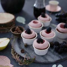 Red Wine & Pear Cupcakes With Elderberry Frosting via @feedfeed on https://thefeedfeed.com/frlklein/red-wine-pear-cupcakes-with-elderberry-frosting