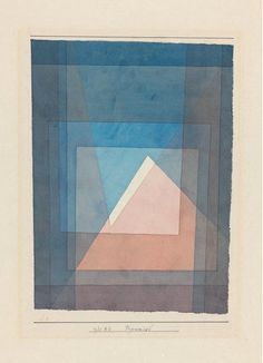 nobrashfestivity: Paul Klee, Pyramids