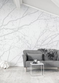 Eco White Light - Shadow light wallpapper mural designed by Eco Wallpaper   Mr Perswall