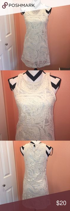 Cute Cream Dress Good condition, worn only once Forever 21 Dresses Mini