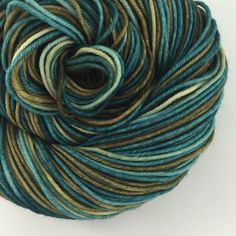 ANTIQUE III ~ is back by popular demand for the THIRD time! Colors: dark greenish teal, olive with little black (I use only professional grade dyes) Yards: +\- 232 Weight: DK, 4- ply Fiber: 100% superwash merino Care instructions: This can be machine washed. To make finished items keep their vibrant colors, hand wash. Lay flat and shape to dry. #yarnbaby