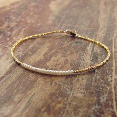 Pearl Bracelet June Birthstone Jewelry Beaded by TwoFeathersNY