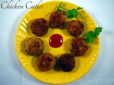 Chicken Cutlet - An exotic tea time snack made with minced chicken. This deep fried snack is crispy on the outside and soft on the inside packed with flavour. This forms part of any high tea or party time appetizer or made during special occasions. Chicken Cutlet Recipes, Chicken Cutlets, Easy Indian Recipes, Ethnic Recipes, Tea Time Snacks, Ground Chicken, Boneless Skinless Chicken, Savory Snacks, High Tea