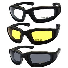 e3a99f8c68 Chopper Men s Motorcycle Wrap 65mm Amber Lens Sunglasses Ladies Golf