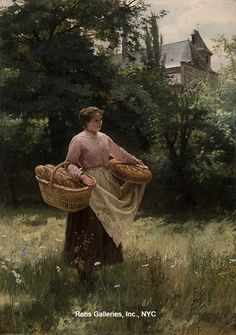 View Girl with Loaves of Bread by Louis Emile Adan on artnet. Browse upcoming and past auction lots by Louis Emile Adan. Paintings I Love, Beautiful Paintings, Illustrations, Illustration Art, Fontainebleau, Cottage Art, Victorian Flowers, Country Scenes, Love Art