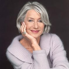 """Helen Mirren ~ Glorious at 67 It was Coco Chanel who once said """"Nature gives you the face you have at twenty; it is up to you to merit the face you have at fifty."""" I'm very sure that she..."""