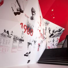 Awards for Ajax experience tomorrow – Design Inspiration – Exhibition Stand Museum Exhibition Design, Design Museum, Environmental Graphic Design, Environmental Graphics, Display Design, Wall Design, Timeline Design, Sports Wall, Museum Displays