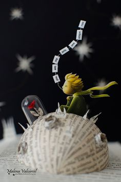 The Little Prince - Book Sculpture by Malena Valcarcel Little Prince Quotes, The Little Prince, Cardboard Sculpture, Book Sculpture, Paper Sculptures, Wire Crafts, Diy And Crafts, Paper Crafts, Pottery Painting Designs