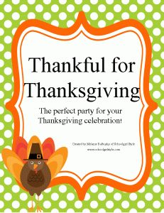 My Thanksgiving Party Unit  www.schoolgirlstyle.com
