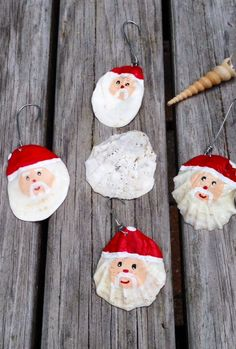 Hand painted Santa Claus face ornament on by washedupcreations, $7.00
