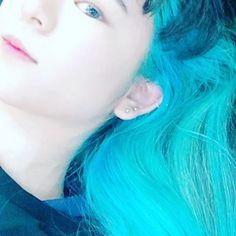 WEBSTA @ guroe_hobby - #bluehair #myhair #doyoulikeit #マニックパニック #manicpanic