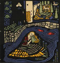 """Sleeping Woman,"" Oskar Kokoschka (Austrian, 1886-1980), Lithograph, Title page from illustrated poem ""Die Träumenden Knaben,""1917"