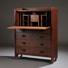 Gustav Stickley Craftsmen Workshops Desk | Sale Number 2661B, Lot Number 173 | Skinner Auctioneers