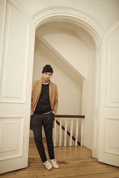 Camel, grey, relaxed with sweatpants and an overcoat / November New Arrivals / Club Monaco