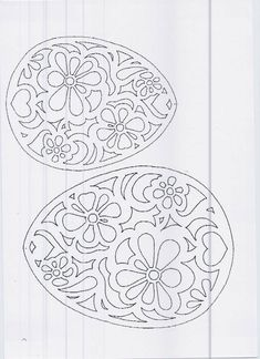 Paper Cutting Patterns, Stencil Patterns, Print Patterns, Egg Crafts, Easter Crafts, Kirigami, Crochet Bedspread Pattern, Carved Eggs, Quilled Creations