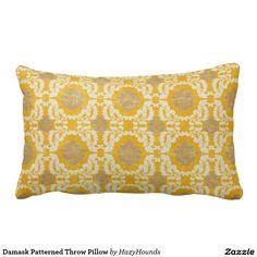 Damask Patterned Throw Pillow http://www.zazzle.com/damask_patterned_throw_pillow-189267297532865899?CMPN=shareicon&lang=en&social=true&view=113986468537702901&rf=238588924226571373