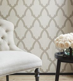 Interior design trend, Trellis geometric wallpaper | Brock Trellis Wallpaper by Anna French | Jane Clayton