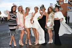 What a turnout! These ladies looked photo-ready in an array of necklines and hemlines alon. National Festival, Charlotte Hawkins, Bright Dress, Monochrome Outfit, Boucle Jacket, Floral Headpiece, Blue Coats, Blue Cardigan, Black Blazers