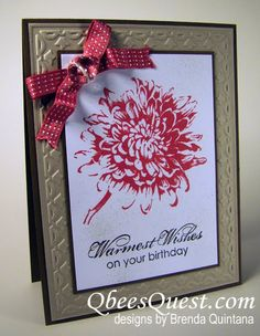 Qbee's Quest: September Workshop Projects blooming with kindness and tulip frame embossing folder