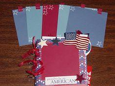 July 4th Mini paper bag album