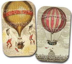 Hot air balloons would work very nicely somewhere in the details.