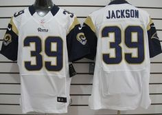 Nike St. Louis Rams #39 Steven Jackson White Elite Jersey