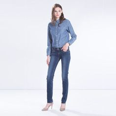 Our Revel Jeans shape and define your body with liquid latex technology and seam-shaping at the back. They're cut from a four-way fabric blend that stretches and lifts. Contour-finishing and elongating seams create a longer, leaner silhouette. This season, we're introducing them in a versatile shape that every girl should have & a low rise and essential straight leg.
