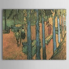 Famous Oil Painting Les-alychamps by Van Gogh - WallArtBox