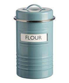 Another great find on #zulily! Blue Vintage Flour Tin #zulilyfinds