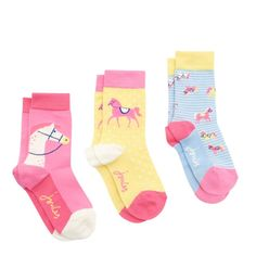 Trio of novelty bamboo socks by Joules. Equestrian themed. Great fun, great value. FREE UK postage over £30 or come visit our shop in Lyme Regis.