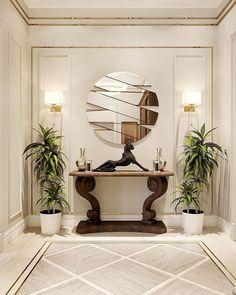 Home Room Design, Home Interior Design, Living Room Designs, Living Room Decor, House Design, Entrance Hall Decor, Entryway Decor, Flur Design, Hallway Designs