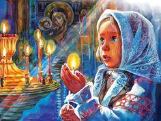 Просмотреть иллюстрацию Пасха. В церкви. из сообщества русскоязычных художников автора Ирина в стилях: Графика, нарисованная техниками: Смешанная техника.