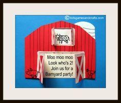 Barnyard Birthday Party Invitation