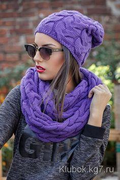 Шапочка и пуловер одним узором | Клубок