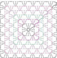 Schema mattonella a uncinetto