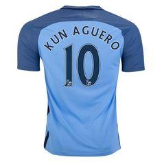 Nike Sergio Kun Aguero Manchester City Home Jersey 16/17