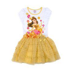 Disney Princesses Belle Tutu Dress White Child Size Small (2-4) ($20) ❤ liked on Polyvore