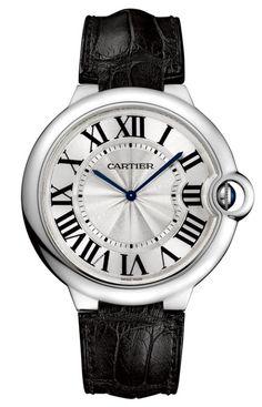 White-gold Extra-Flat Ballon Bleu de Cartier watch ($24,000) by Cartier; cartier.com.