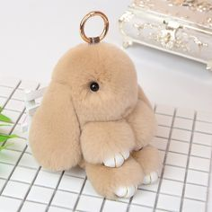 Cute fluffy bunny rabbits small charm keychain phone charm bag charm, this  is the softest, most adorable thing you ll ever touch ) 9128024448
