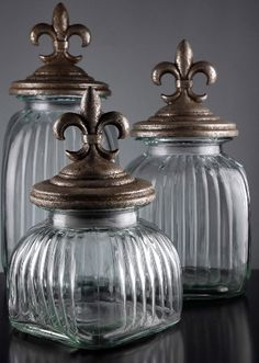 Fleur de Lis Canisters at Save on Crafts Deco Baroque, Just In Case, Just For You, Diy Fleur, Home Decoracion, Save On Crafts, In Vino Veritas, Canister Sets, Apothecary Jars